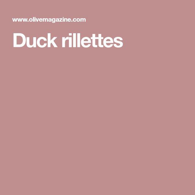 Duck rillettes