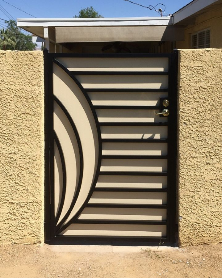 Best 25 modern gates ideas on pinterest aluminium for Single gate designs for homes