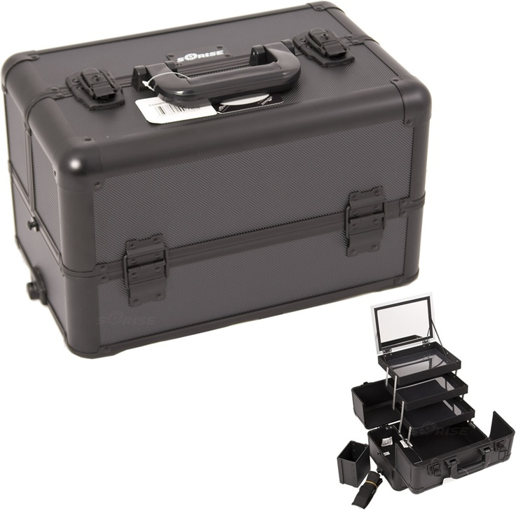 Black Dot Professional Makeup Case with Brush holder and