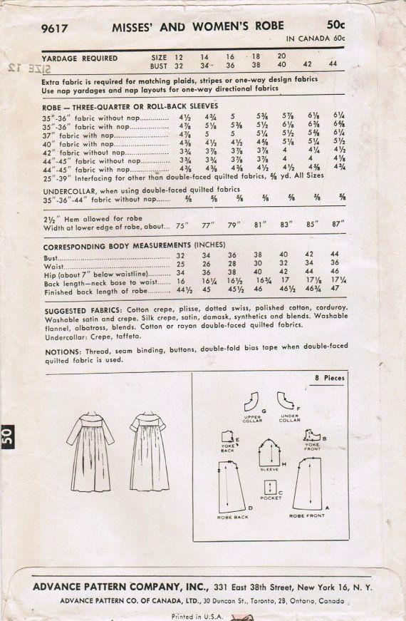 1960s Advance 9617 UNCUT Vintage Sewing Pattern от midvalecottage