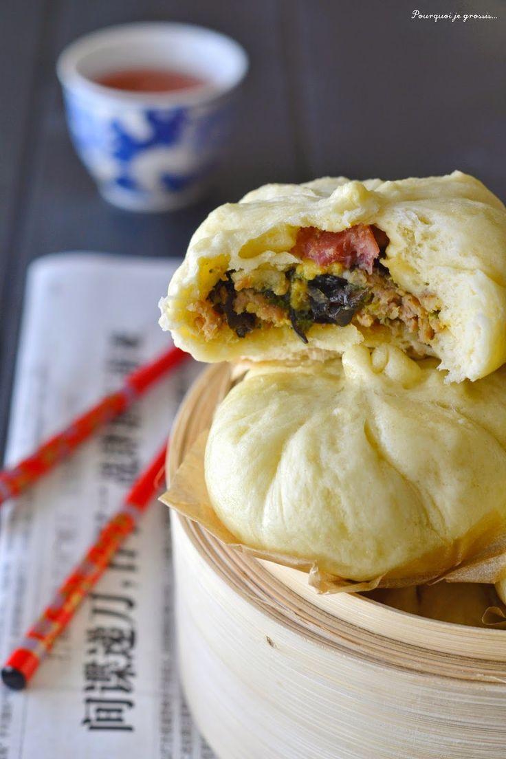 Pourquoi je grossis ... : Paw ou baozi ~ Brioches farcies à la viande, aux champignons noirs & à la coriandre.
