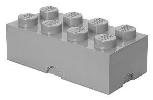LEGO - Storage Brick 8, Grey: Amazon.co.uk: Kitchen & Home