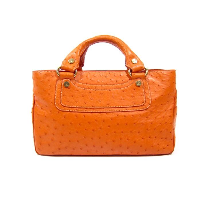 Celine Orange Ostrich Boogie Bag | My Style Pinboard | Pinterest ...