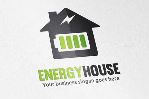 Energy House Logo by WheelieMonkey on Creative Market