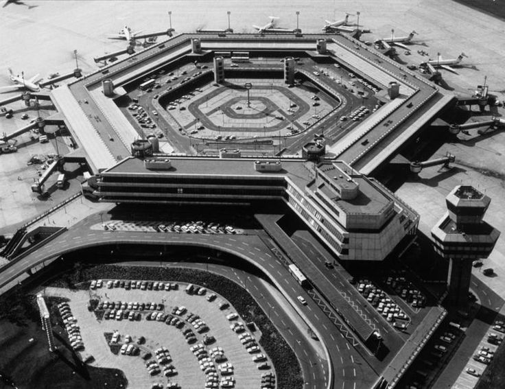 1975 Germany, Berlin Berlin-Tegel Airport - for more inspiration visit http://pinterest.com/franpestel/boards/
