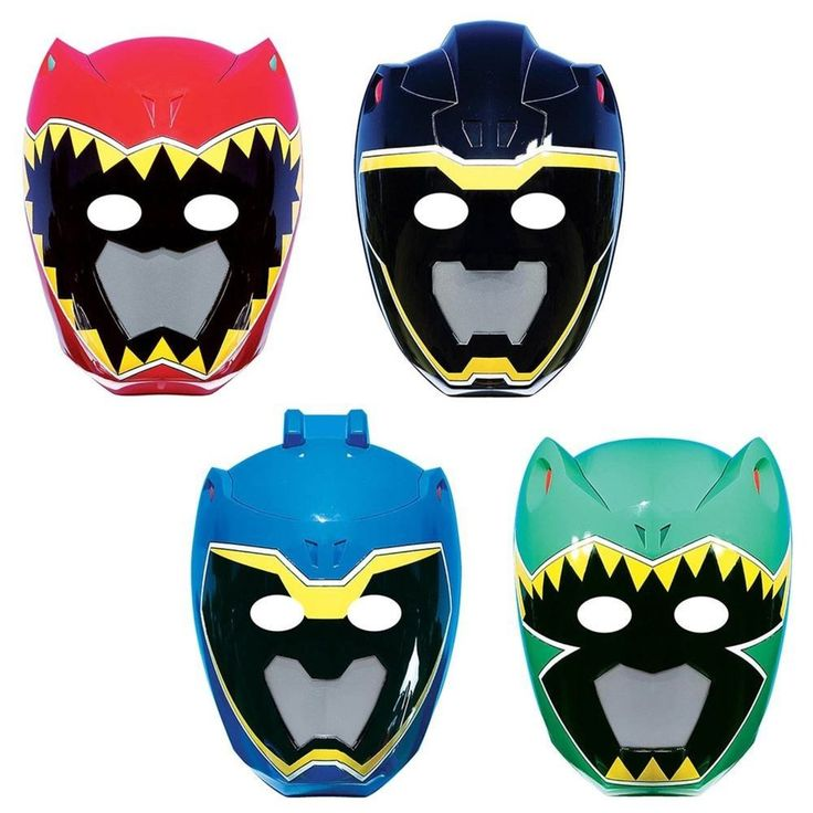 Power Rangers Dino Charge Paper Masks (8 Pack) - Party Supplies #Amscan