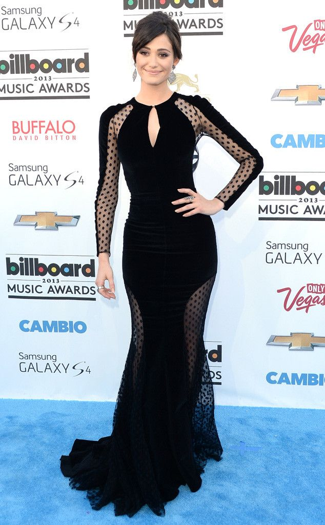 marvelous black dress // Emmy Rossum attended the 2013 Billboard Music Awards in a black Zuhair Murad dress that featured cutouts in all the right places.