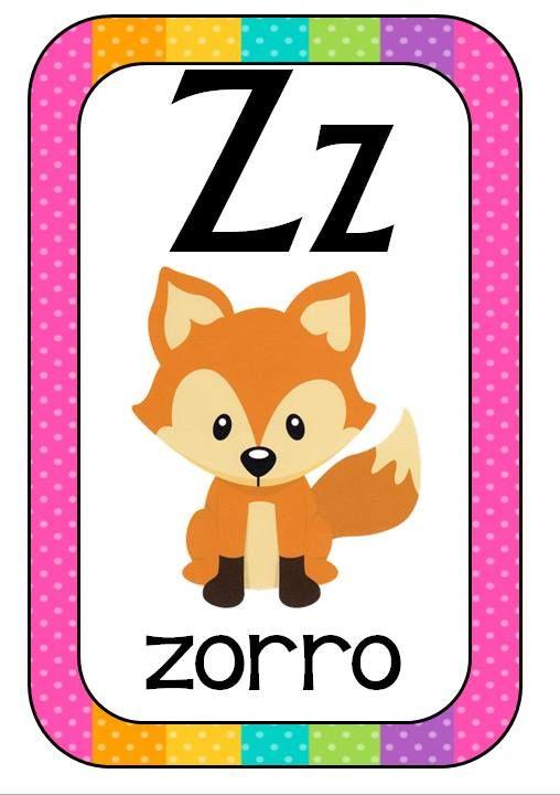 Abecedario Animales formato tarjetas (14) - Imagenes Educativas