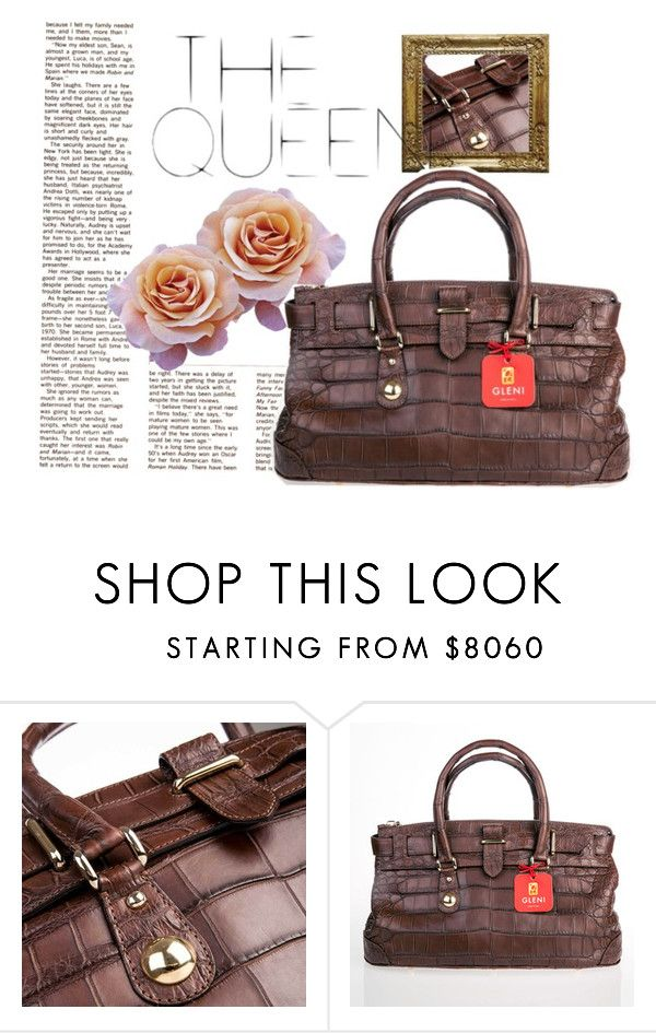 """THE QUEEN"" by gleniofficial ❤ liked on Polyvore featuring bag, handbag, crocodile, gleni and gleniboutique"