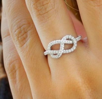This is the Tiffany Infinity Ring.....I know I think like a guy now when I look and see a figure eight knot. :) still REALLY want! :)