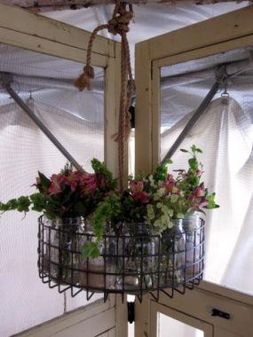 Chandelier from an old dishwasher basket