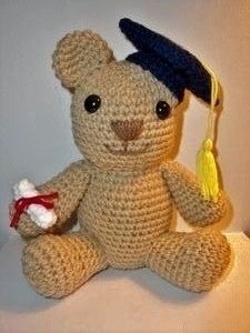 Graduation Teddy bear, free pattern on Lion Brand website