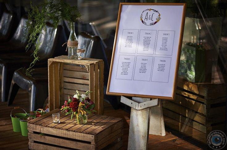 Tablica z usadzeniem gości    Table seatting plan
