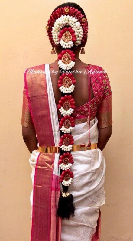 42 Super Ideas south indian bridal hairstyles wedding hairs saree
