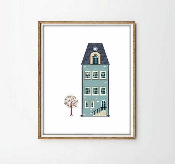 laminas casas laminas imprimibles4 TAMAÑOS INCLUIDOS casas