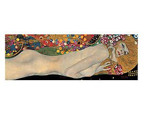 Stampa fine art su canvas con telaio in legno Sea Serpents II - 95x33x4 cm