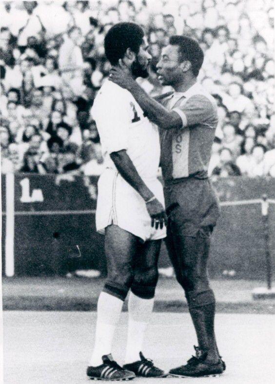 Eusebio and Pele New York Cosmos at Boston Minutemen, 1975