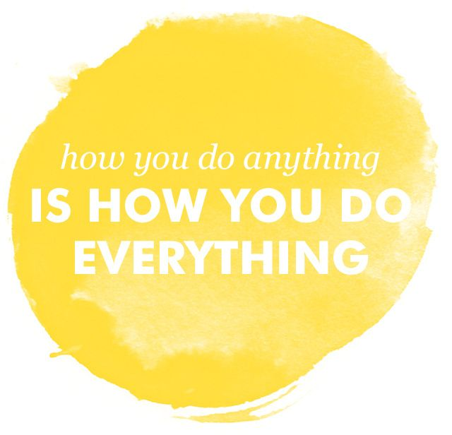 How You Do Anything quote by T. Harv Eker in Secrets of a Millionaire Mind. layout by & kathleen