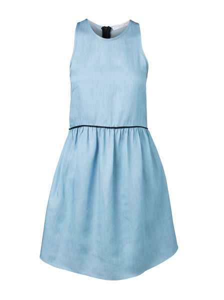 VIKTORIA & WOODS - Roxbury Racer Dress  - Denim - Chambray  $199.90