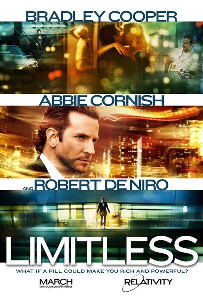 Bradley Cooper and Robert De Niro star in Limitless, a paranoia-fueled action thriller about an unpublished writer whose life is transformed by a top-secret smart drug that allows him to use 100% of his brain and become a perfect version of himself. His enhanced abilities soon attract shadowy forces that threaten his new life in this darkly comic and provocative film.