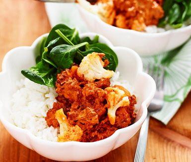Köttfärssås med kanel och chili