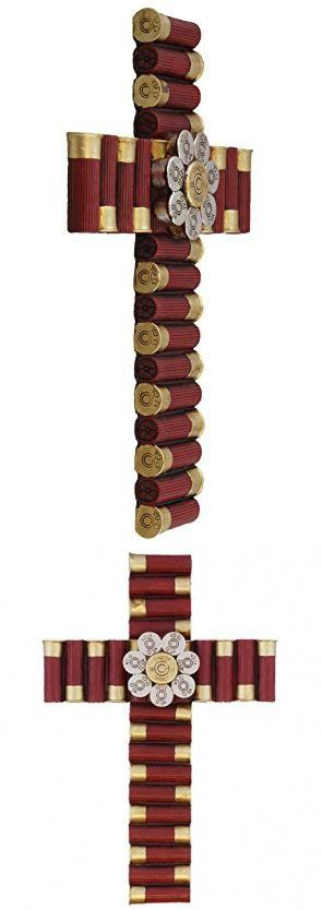 "Montana West Wall Cross with Shotgun Shells 12"" Western Home Decor                                                                                                                                                     More"