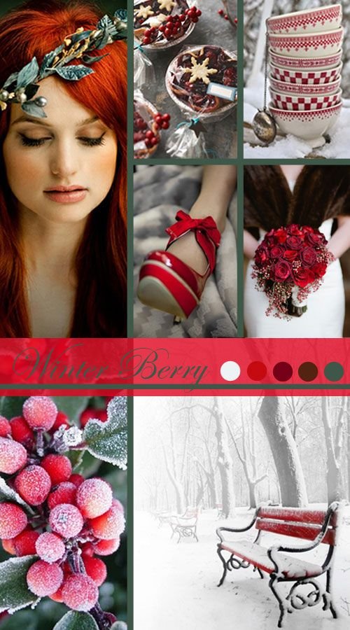 Winter Berry in Frosted Snow: Wedding Inspiration | Vintage Tea Roses