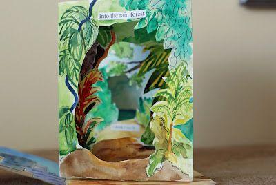 that artist woman: Tunnelbook, Artists, Craft, Art Lessons, Book Making, Art Ideas, Tunnel Books, Art Projects