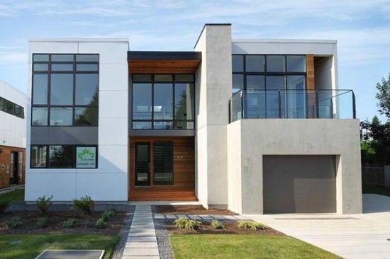 Fachadas de casas de dos pisos minimalistas dise o de for Diseno de interiores de casas modernas minimalistas