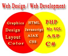Difference between web development and design
