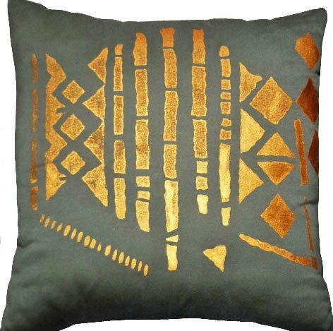 screen print pillow by halletextiledesign on Etsy