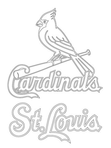 158 best images about color pages on pinterest dovers for St louis cardinals logo coloring pages