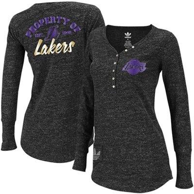 adidas LA Lakers Ladies Slub Long Sleeve T-Shirt