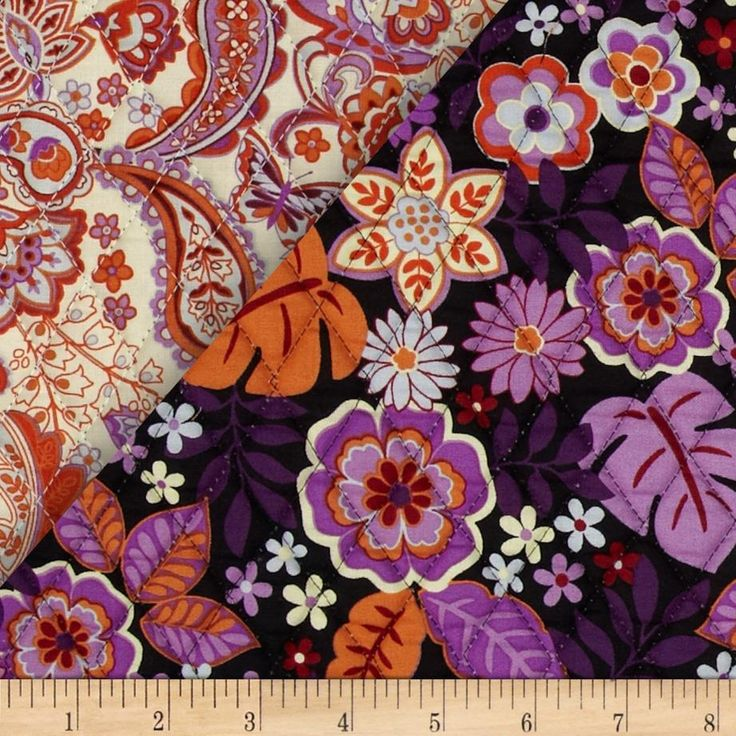 Cassandra Double Sided Quilted Orange/Pink from @fabricdotcom   From Fabri-Quilt, this double sided pre-quilted fabric is perfect for tote bags, easy quilts, crafts, blankets and more. It is composed of two 100% cotton fabrics on the outside with an inner layer of 3.3 oz. polyester batting. One side features a modern floral and the other side features a traditional paisley.