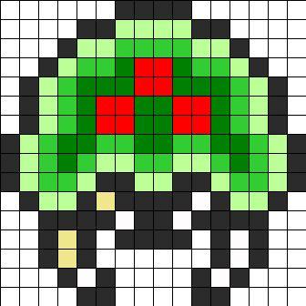 Metroid Perler Bead Pattern