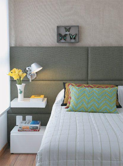 Cores calmas, tecidos macios e iluminação planejada transformam quartos em espaços onde descansar é um prêmio