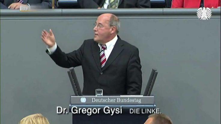 Gregor Gysi, DIE LINKE – Frau Bundeskanzlerin! Ich weiß nicht, wo Sie gerade wieder rumturnen. (5:45)
