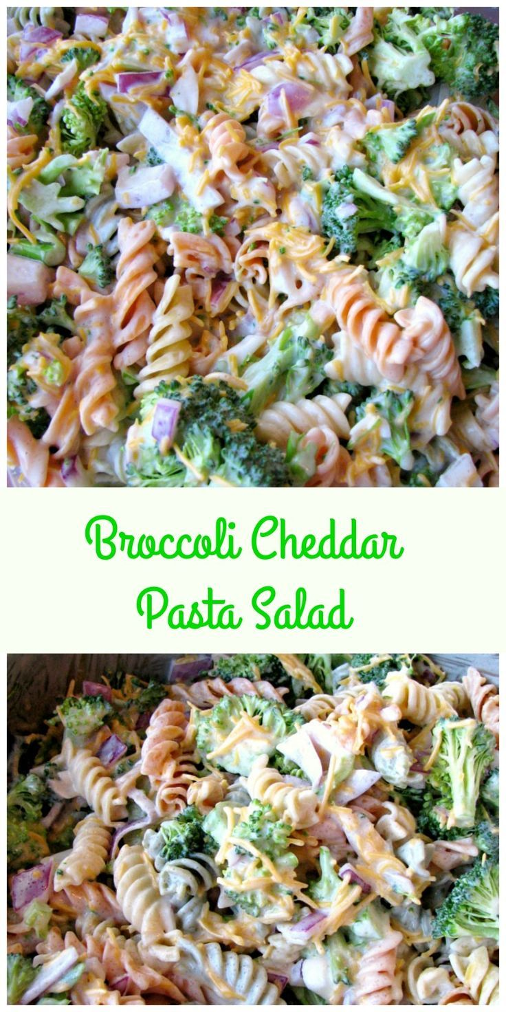 This copycat version of Walmart's Broccoli Cheddar Pasta Salad tastes just like the original! Made with veggie rotini pasta, fresh broccoli, cheddar cheese, and purple onions, it's perfect for cookout or any special occasion. #pastasalad #copycatrecipes #broccoli #cheddar #pasta #partyfood