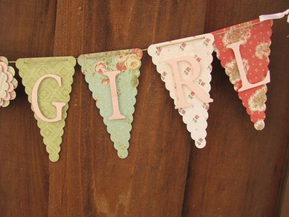 Its a Girl Banner, Baby Shower Banner, Baby Shower Decorations on Etsy, $25.00