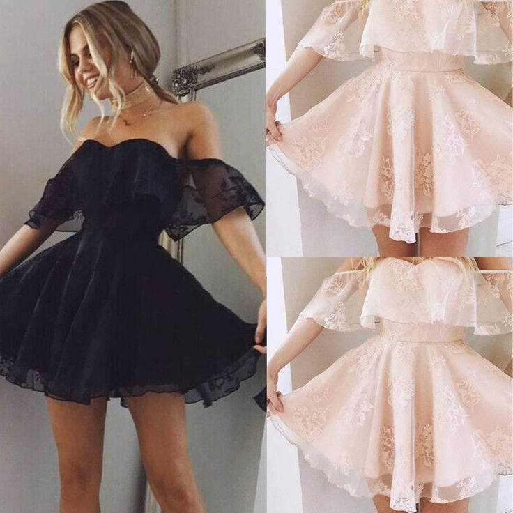 FREE SHIPPING Women Formal Lace Mini Dress Prom JKP317