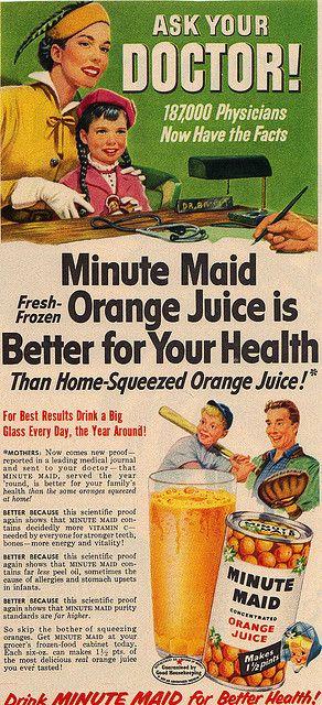 Minute Maid Orange Juice Magazine Ad by slade1955, via Flickr #cocacola #coke #minutemaid