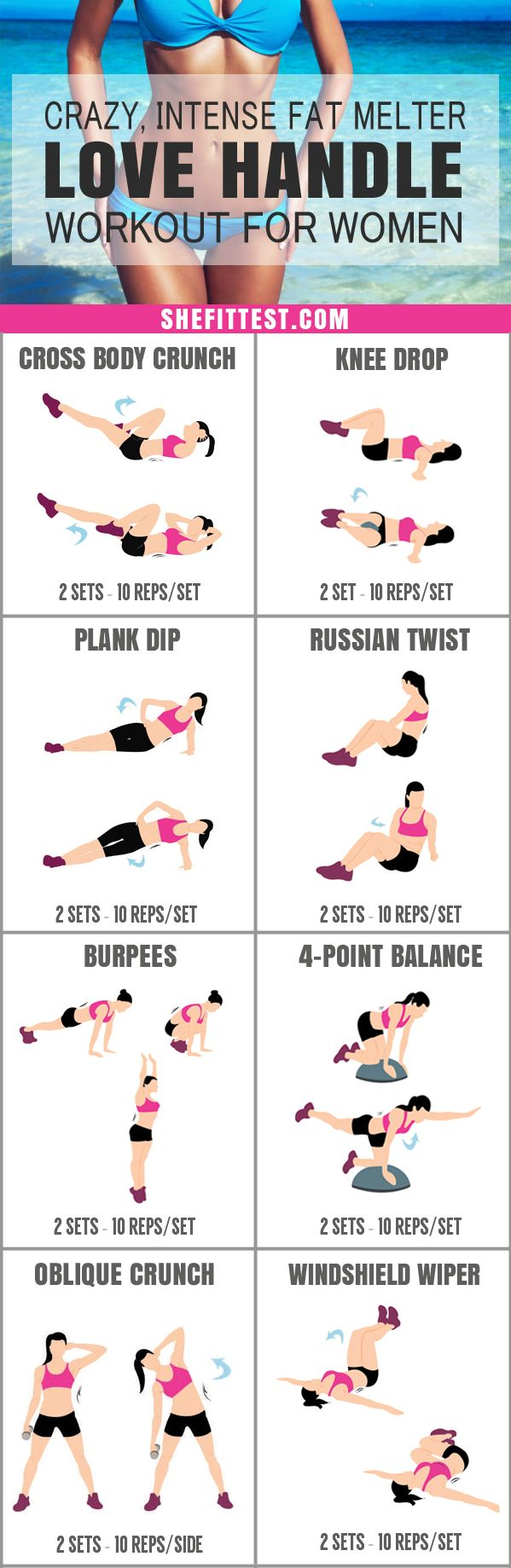 12 Amazing Lazy Girl Workouts To Get Rid of Love Handles In A Week