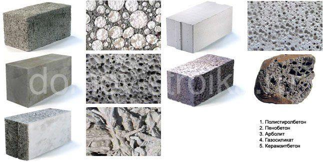 Виды блоков для строительства
