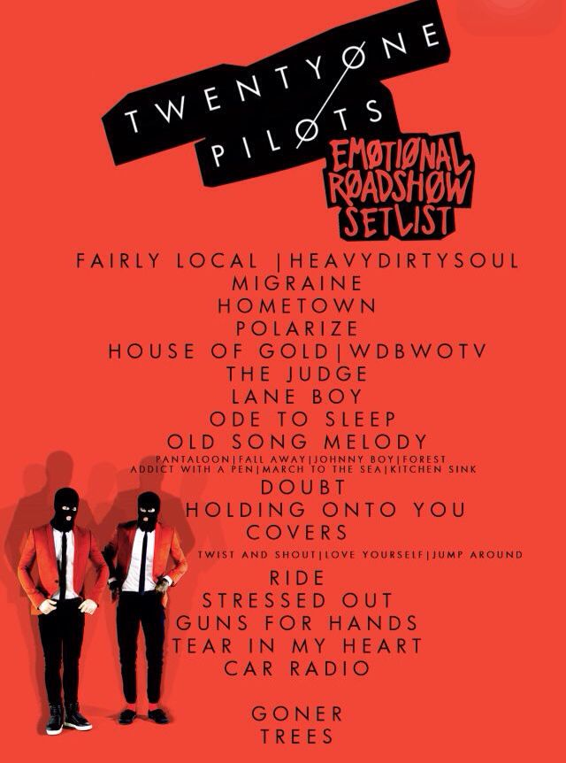 And here it is... I'm so stoked on this setlist. It's incredible.
