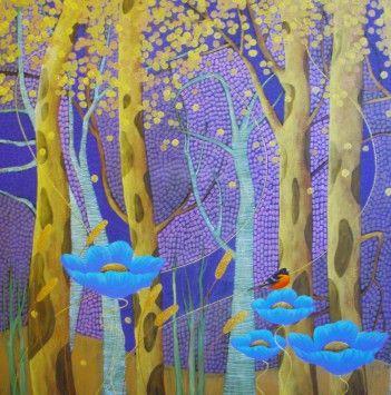 """Purple Paradise"" by Cheryl Petersen – tusk gallery"