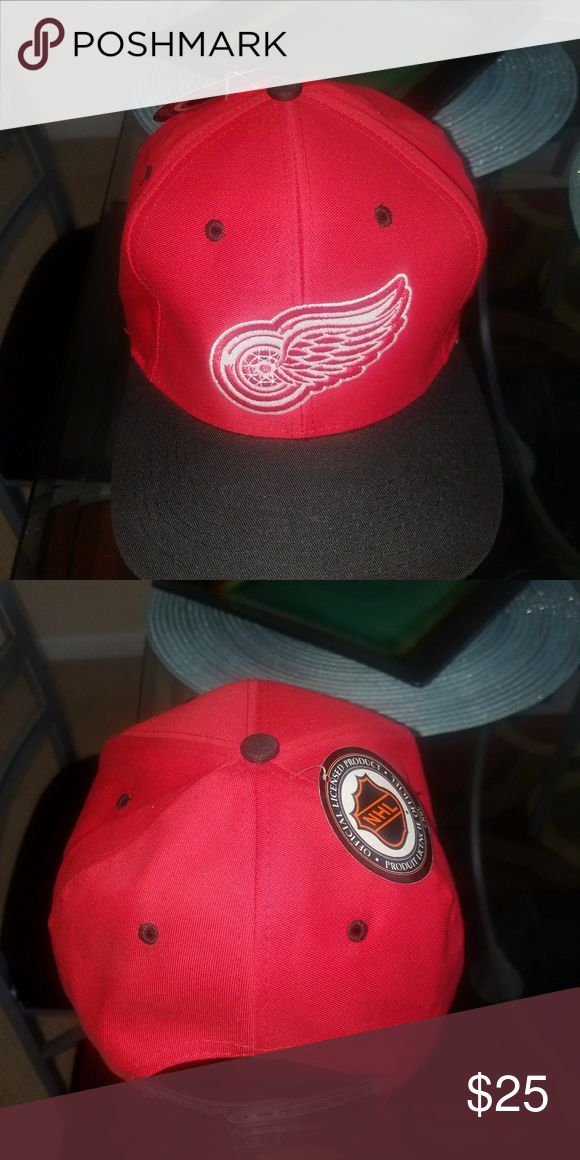 Detroit red wings hat new red Detroit red wings hat new red with tags NHL hockey detroit Accessories Hats