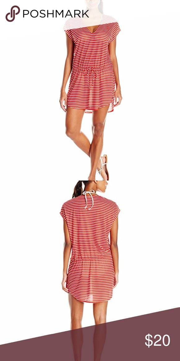 Tommy Hilfiger Women's Sailing Stripe Tunic Cover 100% Polyester; Drawcord waist; V-neck; never worn Tommy Hilfiger Swim Coverups