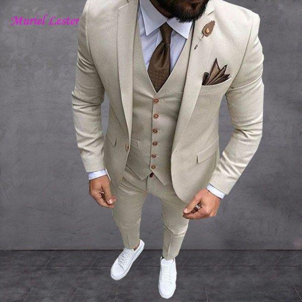 Coat Pant 3 Piece Suit For Men Wedding