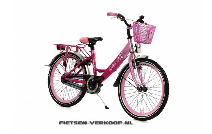Meisjesfiets Angel Roze 22 Inch | bestel gemakkelijk online op Fietsen-verkoop.nl