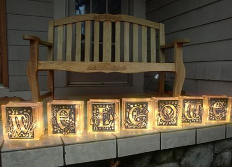 Best Decorated Glass Blocks Images On Pinterest Glass Block - Nativity vinyl decal for glass block light